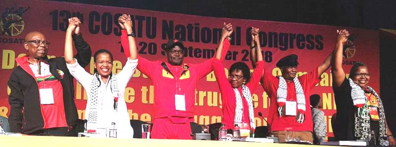The first woman as the head of one of the largest South African trade union organizations